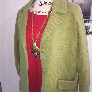 Gorgeous Chico's Lime Green Jacket